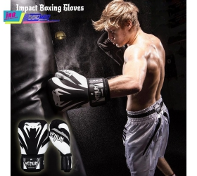 Găng Venum Impact Boxing Gloves - Black/White