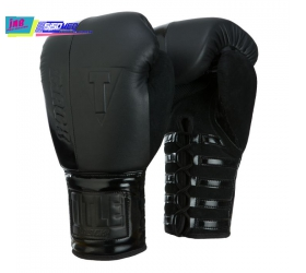 GĂNG BOXING TITLE BLACK Blast Lace Training Gloves