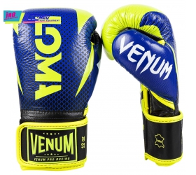 GĂNG VENUM HAMMER PRO BOXING GLOVES LOMA EDITION- VELCRO - BLUE/YELLOW