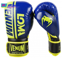 GĂNG VENUM SHIELD PRO BOXING GLOVES LOMA EDITION - VELCRO - BLUE/YELLOW