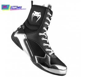 GIÀY BOXING VENUM ELITE BOXING SHOES - BLACK/SILVER