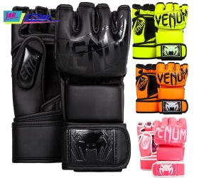 venum undisputed 2.0 mma gloves - skintex leather - black